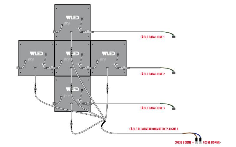 Croix led kit 750 x 750 - plan