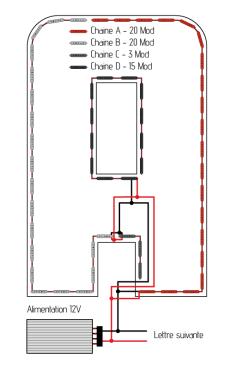 module-led-cablage-des-chaines