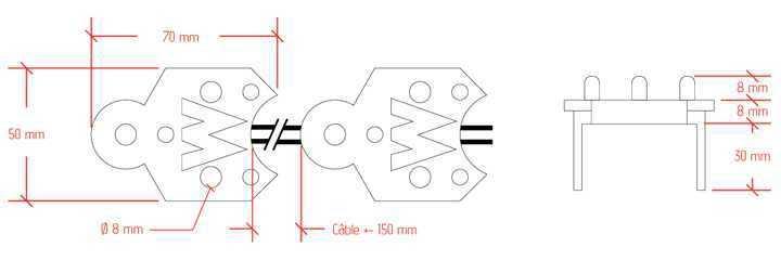 Module LED Tripix-L - plan