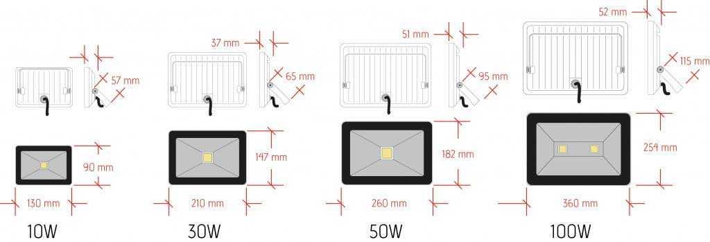 plan-projecteur-led-10-100W