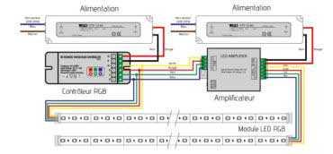 Module led schéma avec amplificateur