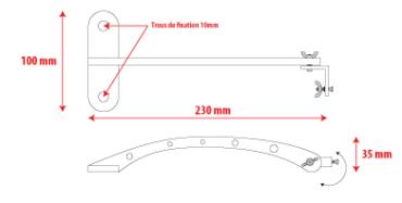 Potence horizontale pour rampe d'éclairage enseigne